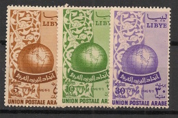 Libye - 1955 - N°Yv. 138 à 140 - Union Postale Arabe - Neuf * / MH VF - Libya