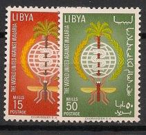 Libye - 1962 - N°Yv. 207 à 208 - Paludisme - Neuf Luxe ** / MNH / Postfrisch - Libya