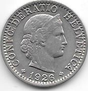 *switzerland 20 Rappen 1926 Km 29  Xf - Switzerland
