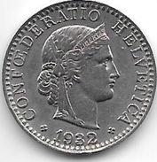 *switzerland 20 Rappen 1932 Km 29  Xf - Switzerland