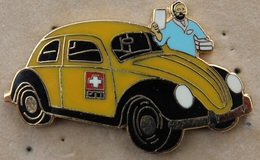 VW - COCCINELLE - POSTE SUISSE - JAUNE ET NOIRE - FACTEUR - SWISS POST - PTT -     -  (19) - Volkswagen