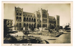 RB 1174 - Real Photo Postcard - Grand Hotel - Tripoli Libia Libya - Ex Italy Colony - Libya