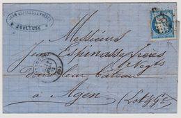 Cérès N° 60 A N° 133 D1 2éme état Sur Lettre 2 Scans - 1871-1875 Cérès