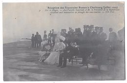 CHERBOURG - Réception Des Souverains Russes Juillet 1009 - Famille Impériale Et Pdt Rép. Manoeuvres Plongée Sous-marins - Cherbourg