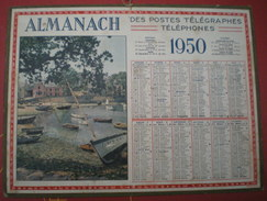 ALMANACH DES POSTES ET DES TÉLÉGRAPHES (oller)  1950 -  Paysage Maritime , Un Port - Calendriers