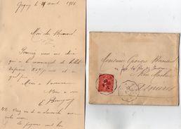 TB 2247 - LAC - Ambulant - Lettre De GAGNY OB MEAUX A PARIS Pour ASNIERES - Marcophilie (Lettres)