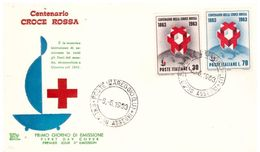 Fdc Chimera : CROCE ROSSA 1963 ; No Viaggiata; A_Viareggio - F.D.C.