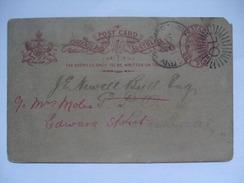 AUSTRALIA - 1895 Queensland Stationary Card 1d Rate QL Duplex - Briefe U. Dokumente