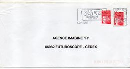 "Flamme Temporaire--LORIENT--56---  1999-- ""333 Ans De Lorient""--type Mariann Luquet............à Saisir - Postmark Collection (Covers)"