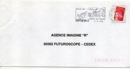 """Flamme --1999--CREPY EN VALOIS--60--""""Musée De L'Archerie (armes) """"--type Marianne Luquet......à Saisir - Postmark Collection (Covers)"""