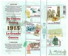 Belg. 2015 - COB N° 4492 à 4496 - La Grande Guerre (A L'arrière Du Front ...) ** (bloc 224) - Belgique