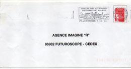 """Flamme --1999--VILLEPARISIS--77-""""Jumelée Avec Wathlingen,Pietrasana Et Maldon """"--type Marianne Luquet......à Saisir - Postmark Collection (Covers)"""