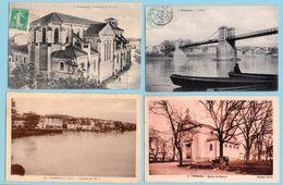 9 Carte Postale Ancienne - Tonneins Pont Garonne Eglise St Pierre   Ect Ect - Tonneins