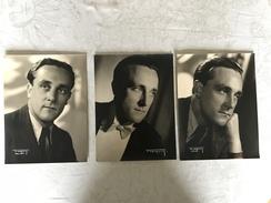 PHOTO D'ART M. FREGOSI BRUXELLES AVENUE HUART HAMOIR - LOT DE 3 PORTRAITS HOMME - Anonieme Personen