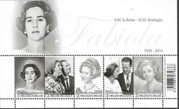 Belg. 2015 - COB N° 4485 à 4489 ** - Hommage à S.M. La Reine Fabiola (bloc 223) - België