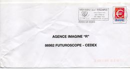 """Flamme-1999-VERNOU SUR BRENNE--37 """"Vignobles-rivières-Coeur Chateaux De La Loire-Vins) """" Tp   Type €......à Saisir - Postmark Collection (Covers)"""