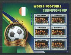 Ivory Coast / Côte D'Ivoire.World Football Championship - Brasil 2014.Liberia S/S. MNH - Costa D'Avorio (1960-...)
