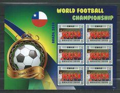 Chile.World Football Championship - Brasil 2014.Liberia S/S. MNH - Chile