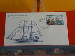 Voilier > Schooner Proposed For Lake Champlain C 1800 > Bermuda > Hamilton > 26.9.1977 - FDC 1er Jour - Bermudes