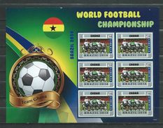 Ghana.World Football Championship - Brasil 2014.Liberia S/S. MNH - Ghana (1957-...)