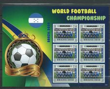 Honduras. World Football Championship - Brasil 2014.Liberia S/S. MNH - Honduras