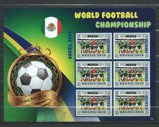 Mexico. World Football Championship - Brasil 2014.Liberia S/S. MNH - Messico
