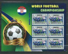Croatia. World Football Championship - Brasil 2014.Liberia S/S. MNH - Croatia