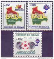 Bolivia 1984 CEFIBOL 1216-18. Industria Del Cuero. Mapa. Balon. See Desc. - Bolivia