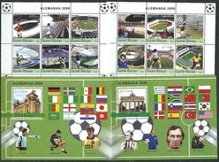 Guinea-Bissau 2004.Football - Germany 2006.2 M/S & 2 S/S.stadiums,famous People,flags,sport. MNH** - Guinea-Bissau