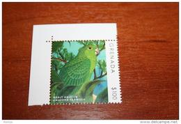 Birds 2014  Grenada Parrots  Rare Nominal 100$ !!! - Parrots