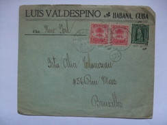 CUBA - 1906 Cover - Havana To Brussels Via New York - Cuba