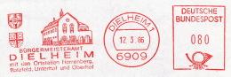 Freistempel 4438 Dielheim Wappen Rathaus - BRD