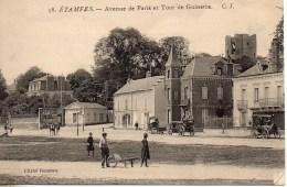 91 ETAMPES  Avenue De Paris Et Tour  De Guinette - Etampes