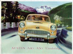 """Brochure Publicitaire 1954 AUSTIN A40-A50 """"CAMBRIDGE"""" - Voitures"""