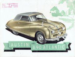 """Feuillet Publicitaire 1951 AUSTIN A90 """"ATLANTIC CONVERTIBLE"""" - 4 Pages - Voitures"""