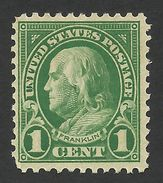 United States,  1 C. 1923, Sc # 552, Mi # 260A, MNH. - United States