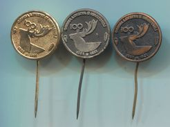 Hunting / Jagd / Caccia - 100 Years Of Hunting Croatia, Vintage Pin, Big Badge, Abzeichen, 3 Pcs - Animaux
