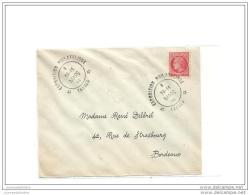 Enveloppe Exposition Philatelique Tarbes  1946 Avec Mazelin - France