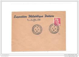 Enveloppe  Exposition Philatelique Poitiers 1946  Avec Gandon - France
