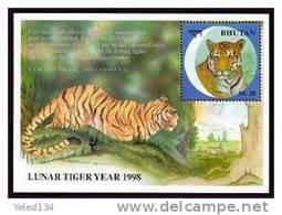 MINT NEVER HINGED SOUVENIR SHEET OF ANIMALS   ; NEW YEAR OF TIGER ( BHUTAN   1188 - Ohne Zuordnung