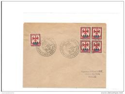 Enveloppe  Exposition Philatelique Nice 1947 Avec Blason - France