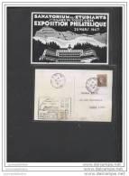 Carte  Exposition Philatelique Saint Hilaire Du Touvet 1947 - Francia