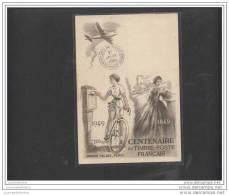Carte  Exposition Philatelique Centenaire Du Timbre 1949 - Storia Postale