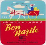 étiquette De Fromage: Camembert :  Bon Bazile  Lorraine Meuse, Henri  Hutin  Lacroix Sur Meuse  Charette - Fromage