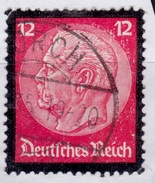 Germany 1934, Hindenburg Memorial Issue, 12pf, Sc#440, Used - Germany