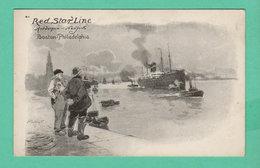 CPA PK +/- 1900 RED STAR LINE Antwerpen-New York Boston-Philadelphie - Steamers
