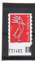 Nouvelle-Calédonie  TVP Rouge  **    WERLING /Philaposte / 2016  // Issu Du Carnet Autocollant Régime Intérieur - Unused Stamps