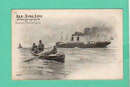 CPA PK +/- 1900 RED STAR LINE Antwerpen-New York Boston-Philadelphia A-4 - Steamers