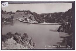 BARRAGE DE ROSSENS - TB - FR Fribourg