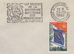 Strasbourg - VIIe Session De La Conference Europeenne Despouvoirs Locaux - 1968 - Postmark Collection (Covers)